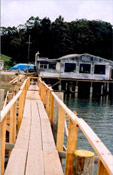 building the dock at nick's cove