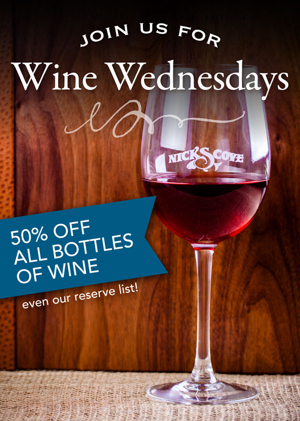 Wine Wednesdays at Nicks Cove