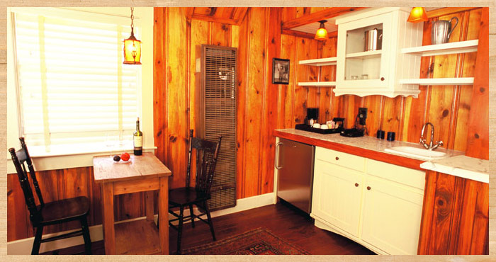 The interior of Red-Legged Frog Cottage at Nick's Cove
