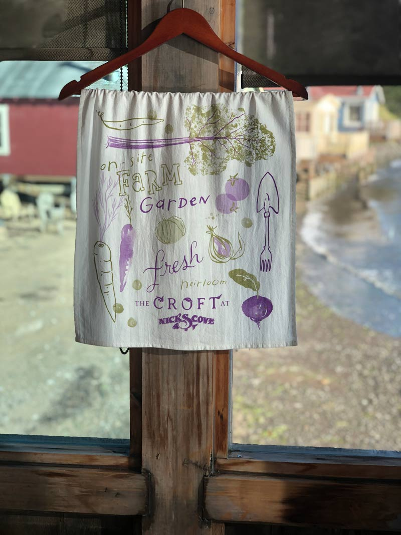 nicks cove croft tea towel