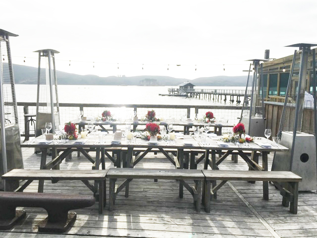 the Nick's cove deck set up for a special event